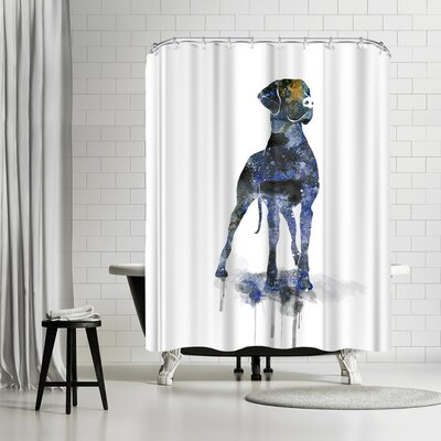 Allison Gray Great Dane Shower Curtain