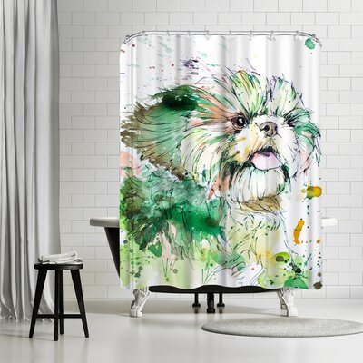 Allison Gray Shih Tzu Shower Curtain