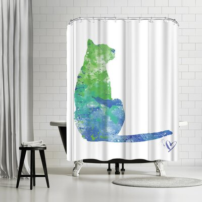 Allison Gray House Cat Shower Curtain