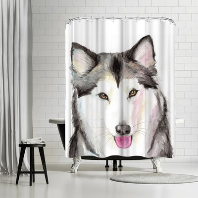 Allison Gray Husky Shower Curtain