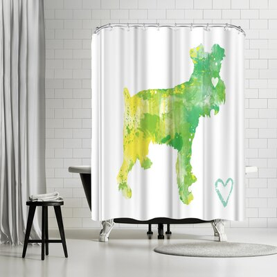 Allison Gray Miniature Schnauzer Shower Curtain