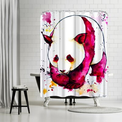 Allison Gray Panda Bear Shower Curtain