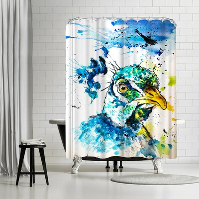 Allison Gray Peacock Shower Curtain