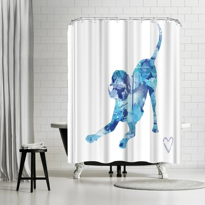 Allison Gray Playful Lab Shower Curtain