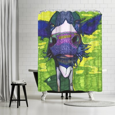 Solveig Studio Cow in Face Shower Curtain
