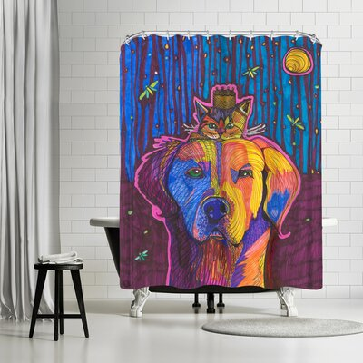 Solveig Studio Dog Kitten Bruce and Sissy Shower Curtain
