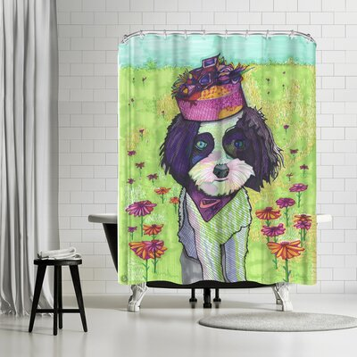 Solveig Studio Dog with Pillbox Shower Curtain