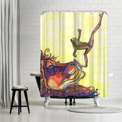 Solveig Studio Frog and Lion Shower Curtain