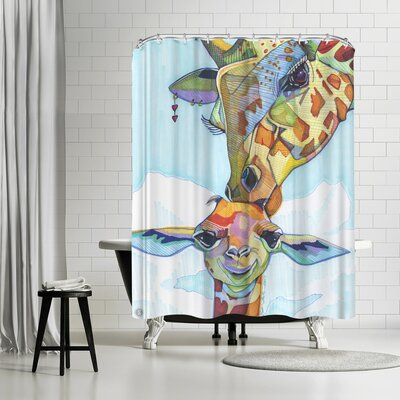 Solveig Studio Giraffe Tina and Tiny Shower Curtain
