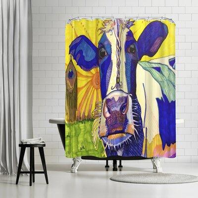 Solveig Studio Hippie Cow Asha Shower Curtain