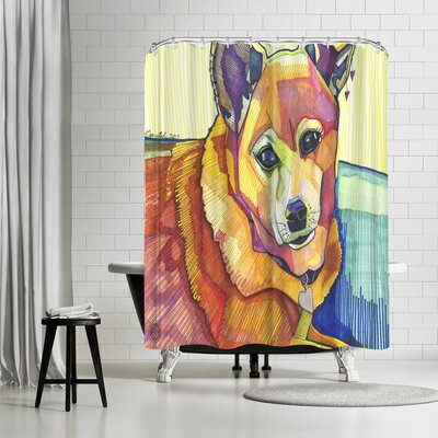 Solveig Studio Mkm Dog Shower Curtain