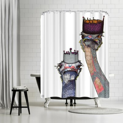 Solveig Studio Ostriches Lisa and Amy Shower Curtain