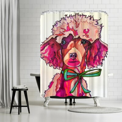 Solveig Studio Poodle Paris Shower Curtain