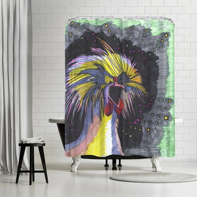 Solveig Studio Screaming Chicken Shower Curtain