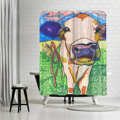 Solveig Studio Sweet Cow with Ring Sigrid Shower Curtain