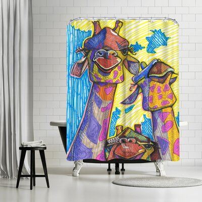Solveig Studio Giraffes Shower Curtain