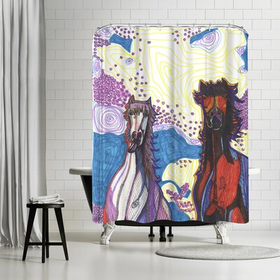 Solveig Studio Horses First Date Shower Curtain