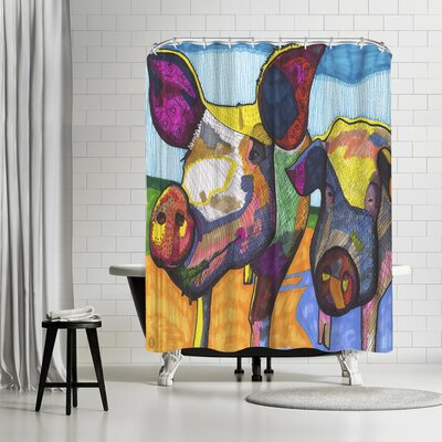 Solveig Studio Pigs Hildi and Mabel Shower Curtain