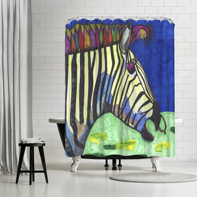 Solveig Studio Zebra Zelda Shower Curtain