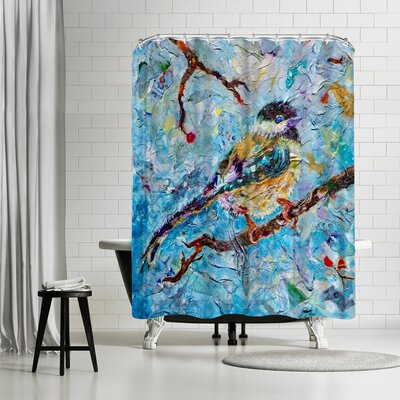 Sunshine Taylor Chickadee Shower Curtain