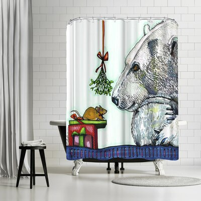 Solveig Studio Yasmin and Karl Polar Bear and Mouse Shower Curtain
