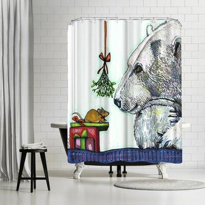 Solveig Studio Yasmin and Karl Polar Bear and Mouse Shower Curtain