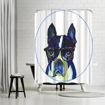 Solveig Studio Boston Terrier Dr Hale Shower Curtain