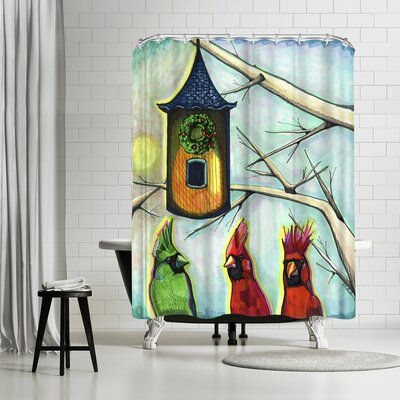 Solveig Studio Cardinals K R Mitt Shower Curtain