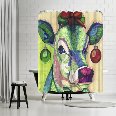 Solveig Studio Christmas Cow Shower Curtain