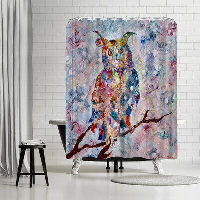 Sunshine Taylor Horned Owl Shower Curtain