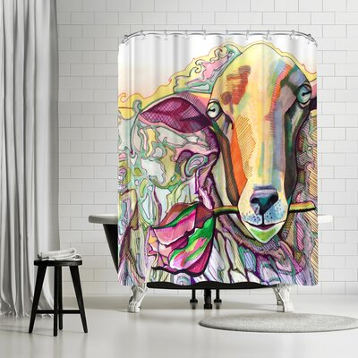 Solveig Studio Easter Lamb Shower Curtain