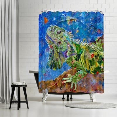 Sunshine Taylor Iguana Shower Curtain