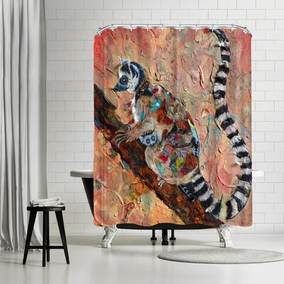 Ikonolexi Lemur Shower Curtain