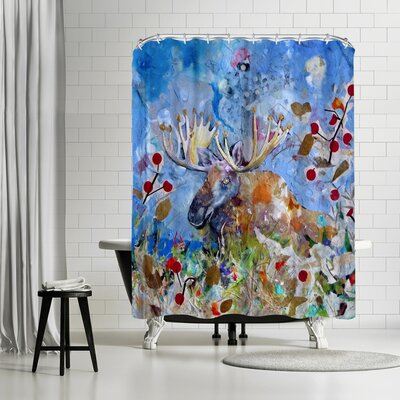 Sunshine Taylor Moose Shower Curtain