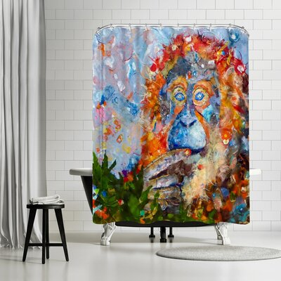 Sunshine Taylor Orangutan Shower Curtain