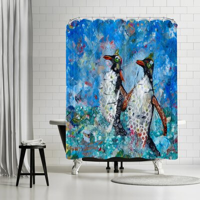 Sunshine Taylor Penguins Shower Curtain