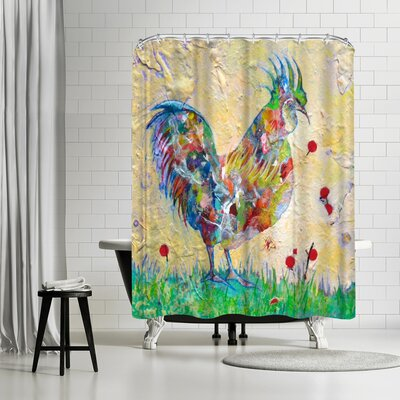 Adams Ale Rooster Shower Curtain