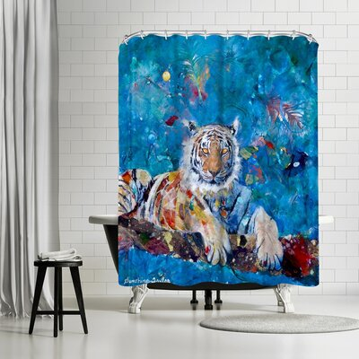 Adams Ale Tiger Shower Curtain
