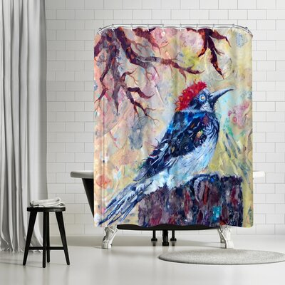 Adams Ale Woodpecker Shower Curtain