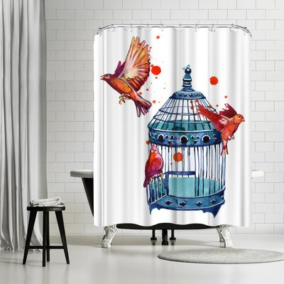 Adams Ale Be Free Bird Cage Shower Curtain