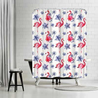 Adams Ale Beach Flamingos Shower Curtain