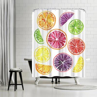 Adams Ale Citrus Wheels Shower Curtain