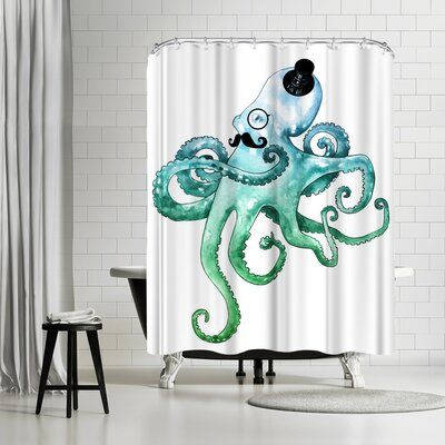 Adams Ale Dapper Octopus Shower Curtain