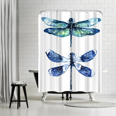 Adams Ale Dragonfly Wings Shower Curtain