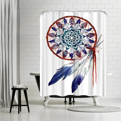 Adams Ale Dreamcatcher Mandala Shower Curtain