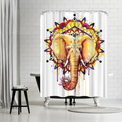 Adams Ale Elephant Mandala Shower Curtain
