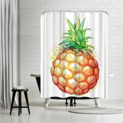 Adams Ale Fat Pineapple Shower Curtain