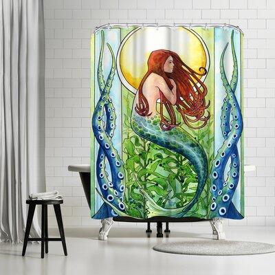 Solveig Studio Kelp Forest Mermaid Shower Curtain