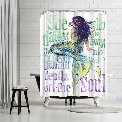 Solveig Studio Mermaid Profound Depths Shower Curtain