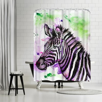 Allison Gray Zebra Shower Curtain
